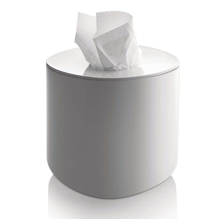 Porta fazzoletti di carta quadrato bianco serie birillo by alessi - Accessori bagno alessi ...