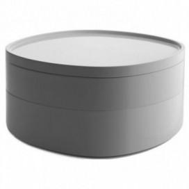 Contenitore da bagno a scomparti | Bianco | Grigio scuro | Serie BIRILLO by Alessi