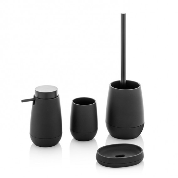 Ceramic toilet-brush holder with a grey rubber effect lining