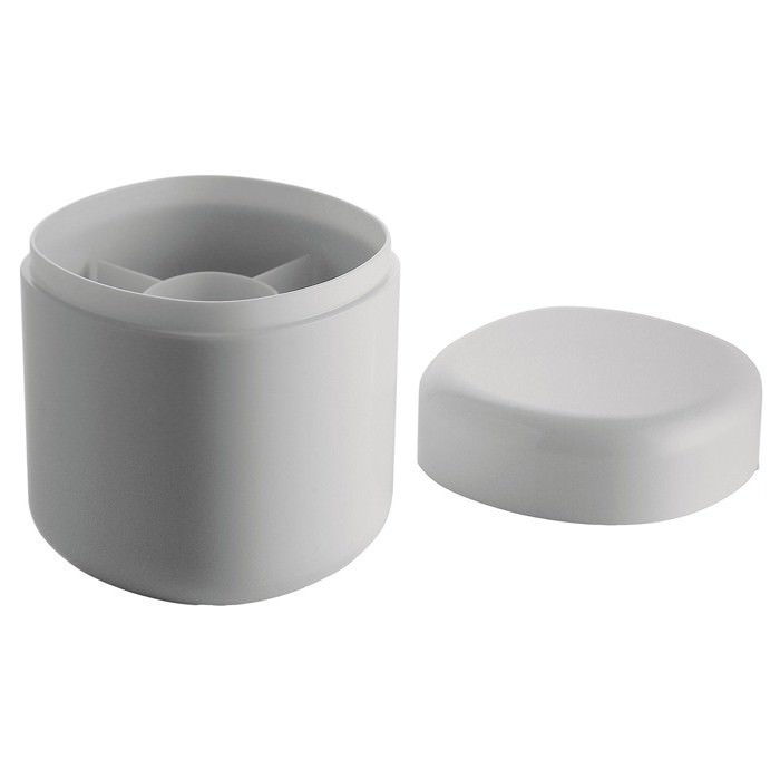 Porta cotton fioc da appoggio bianco serie birillo by alessi - Accessori bagno alessi ...