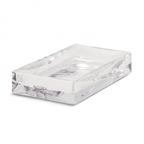 Crystal soap holder to match the glass and dispenser