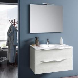 White bathroom cabinet composition