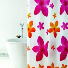 "Tenda doccia ""Dafne"" in tessuto impermeabile e completa di ganci | Disponibile in 3 misure: 120x200 | 180x200 | 240x200"