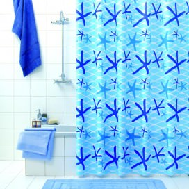 "Shower curtain ""Netty"" complete with rings 
