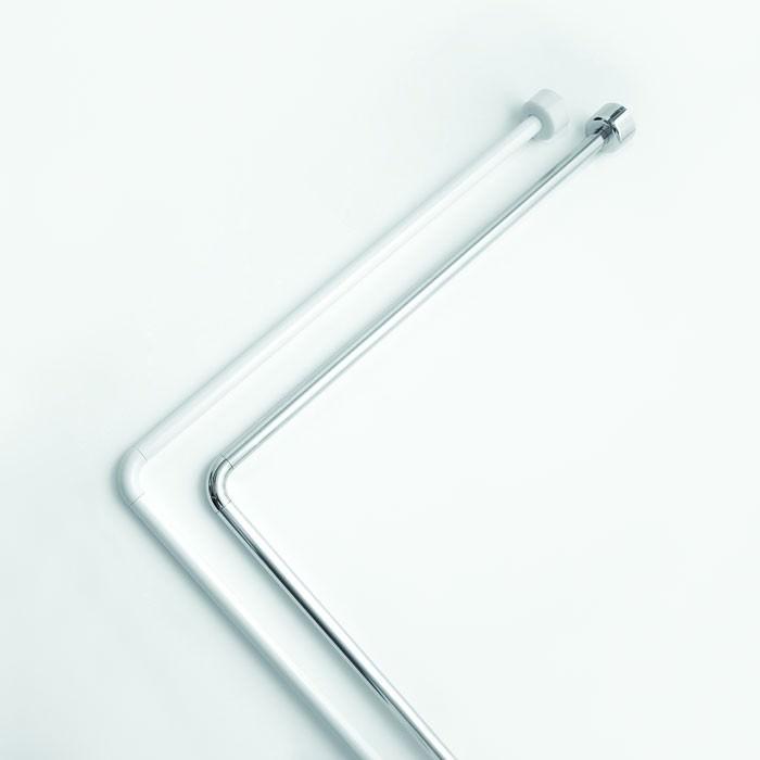 Tubo angolare per la tenda della doccia o della vasca - Tenda doccia per vasca ...