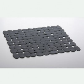 "Anti-slip mat for shower or bathtub with suction cups | Color Grey | 2 sizes available | ""Ciottolo"" Collection"