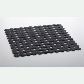 "Anti-slip mat for shower or bathtub with suction cups | Color Dark Grey | 2 sizes available | ""Rete"" Collection"