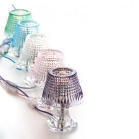 Lampada da tavolo in cristallo molato disponibile in 5 colori Altezza 20 cm | Diametro 15 cm | Lampadina E14 | Massimo 40W