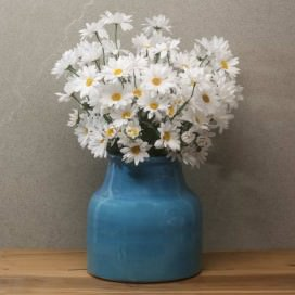 Composizione composta da Vaso e Margherite artificiali | DAISY IN BLUE