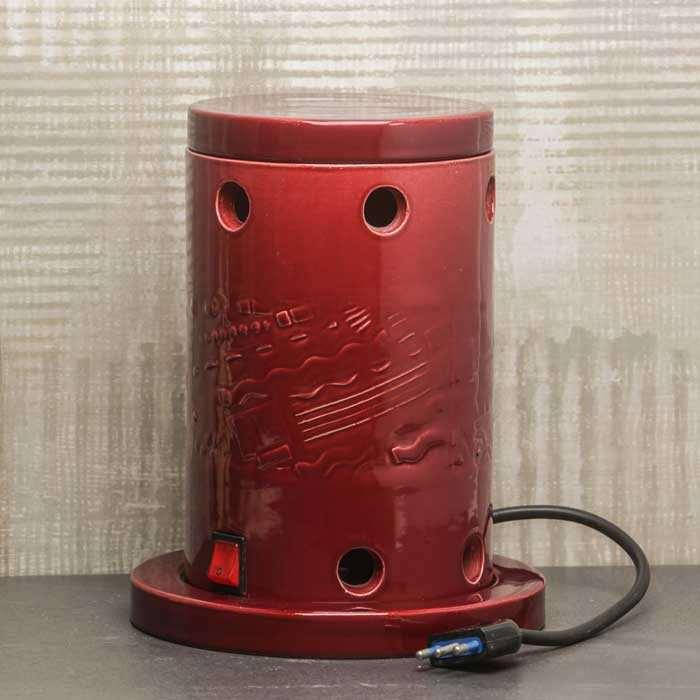 Stufa elettrica in ceramica smaltata pot. 1000 W con ventola integrata