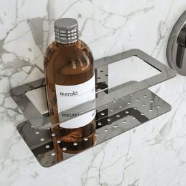 Mensola per doccia Beta | incollo o tasselli | Acciaio Satinato |Petrozzi