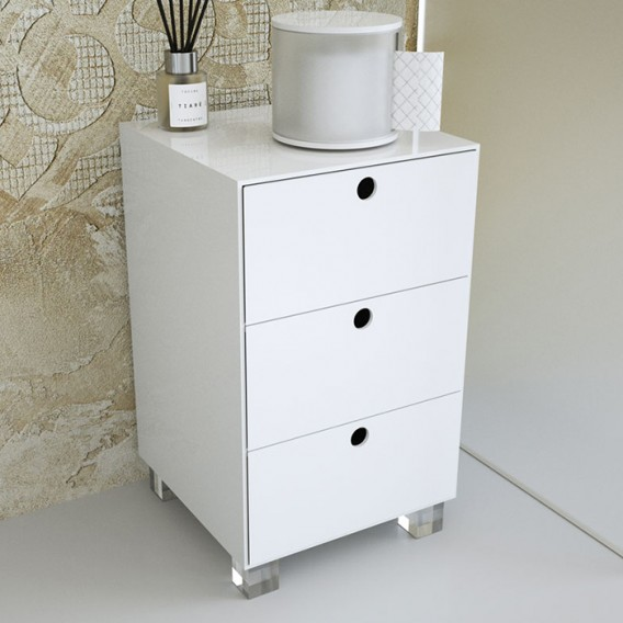 Square laundry basket   Plexiglass   11 colors available   With or without wheels