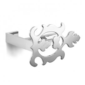 Toilet-paper holder with leaf decoration | Chromed steel | 2 variants available