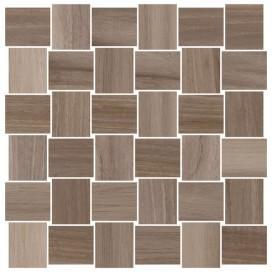 Piastrella effetto mosaico intreccio legno in gres porcellanato smaltato Disponibile in 4 colori. F.to 30x30 - Collezione Opus