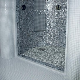 Mosaic | Glass paste | Stone effect | 4 colors available | Sheet size 300x310 mm | Crystal 8 Pearl Collection