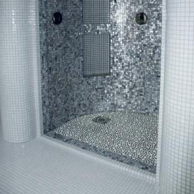 Mosaico | Pasta di vetro | Effetto sasso | 4 colori disponibili | Foglio 300x310 mm | Collezione Crystal 8 Pearl