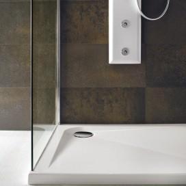 Piatto doccia in acrilico con struttura in acciaio | H 4 cm. Disponibile in 3 forme e 9 misure. Collezione Zeroquattro