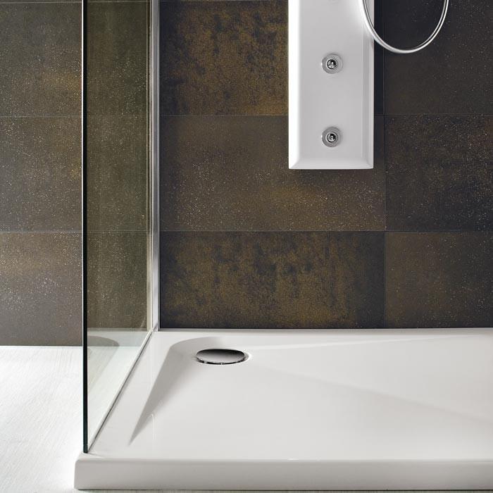 Piatto doccia bianco in acrilico rettangolare quadrato e for Piatto doccia misure
