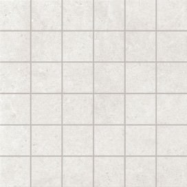 """Piastrella """"Mosaico"""" con tozzetti 5x5 in gres porcellanato. Disponibile in 3 colori. Collezione Creo"""