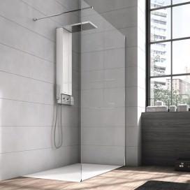 Colonna doccia Space con vano contenitore. Dimensioni: 114x56 cm Colori disponibil: Bianco e Nero