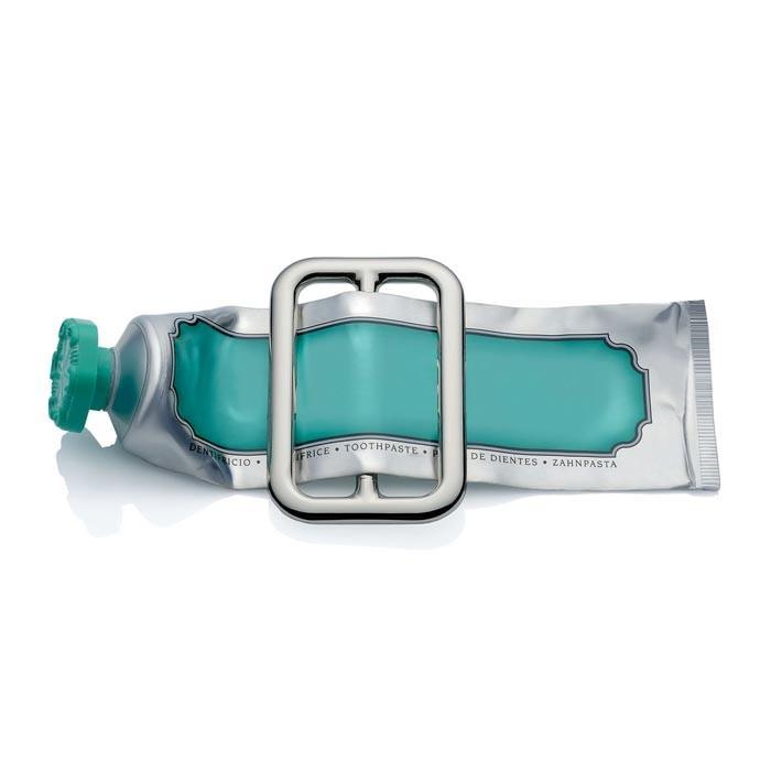 Spremi tubetto per dentifricio cromato buckle by alessi - Accessori bagno alessi ...