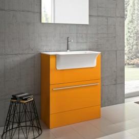 Mobile lavanderia arancione opaco | Composizione compatta adatta agli spazi più stretti | Collezione Laundry