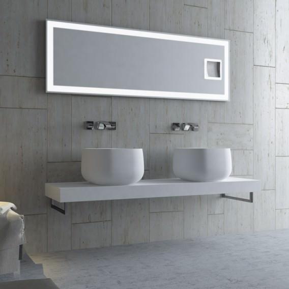 Lavabo da appoggio rettangolare serie lovely bath for Lavabo da appoggio