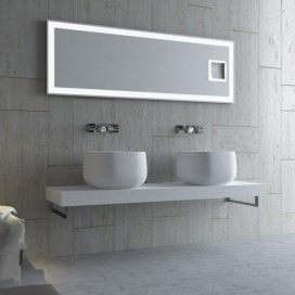 Countertop rectangular washbasin in Solidtech | Available in 3 colors | Lovely Bath collection