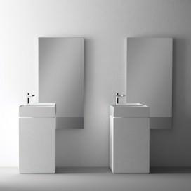 Lavabo freestanding bianco vellutato | Disponibile in 3 colori Solidtech | Collezione Brera