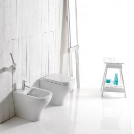 Wc a terra o sospeso in ceramica | Bianco | Collezione Plus Design