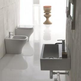 Bidet a terra o sospeso in ceramica | Bianco | Collezione Plus Design