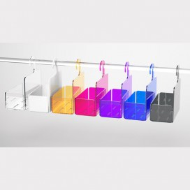 Mensola box doccia a stampella in Plexiglass colorato | 7 colori disponibili