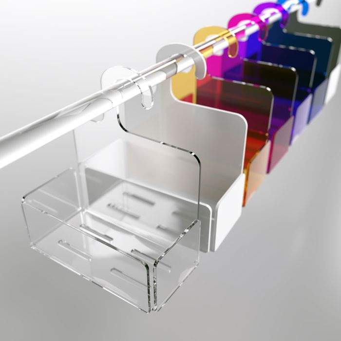 Mensole Plexiglass Colorate.Mensola Box Doccia A Stampella In Plexiglass Petrozzi Idfl