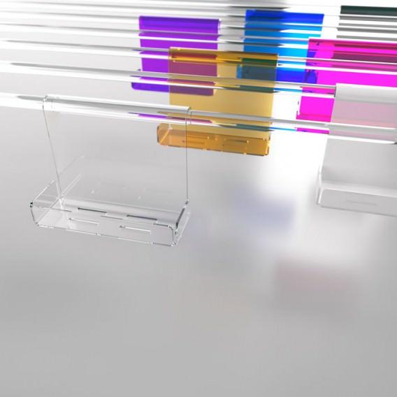 Mensola box doccia in Plexiglass colorato | 7 colori disponibili