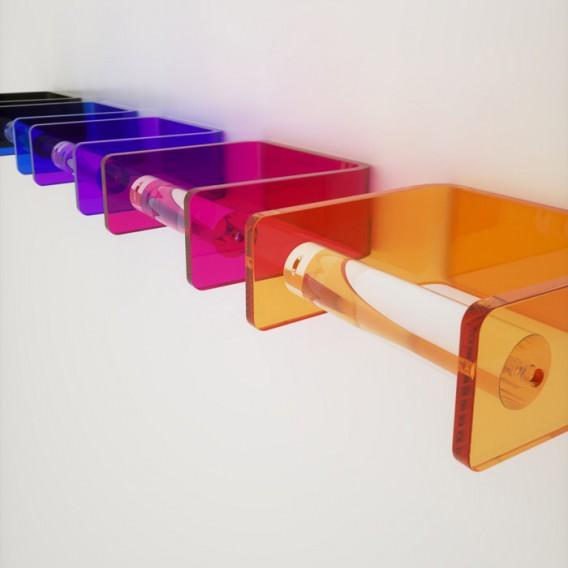 Porta rotolo da parete in Plexiglass | 7 colori disponibili