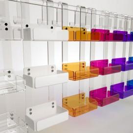 Mensola tripla box doccia in Plexiglass colorato | 7 colori disponibili