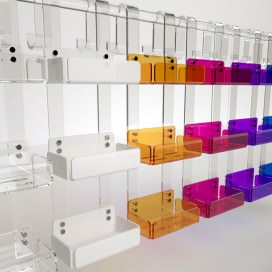 Triple shelf for shower box | Plexiglass | 7 colors available