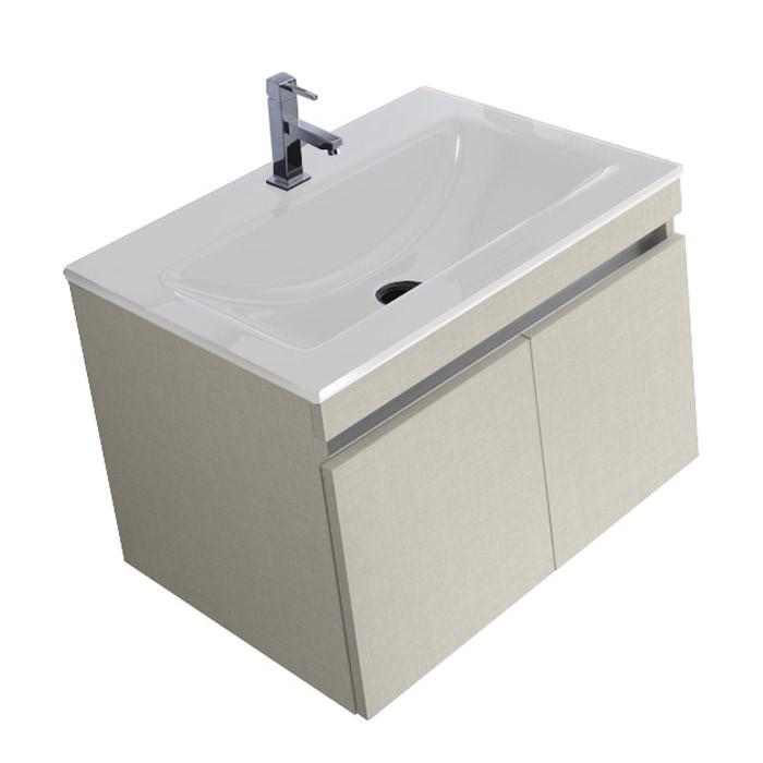 Mobile bagno composto da: Base porta lavabo sospesa e Top in ...