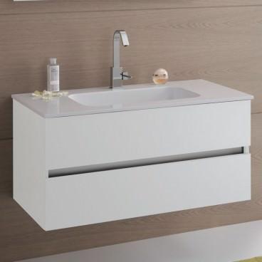 Mobile bagno con base con 2 cassetti e top bianco con lavabo - Base mobile bagno ...