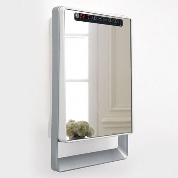 Termoarredo in vetro a specchio elettrico 1000-1800W | Collezione Touch Visio
