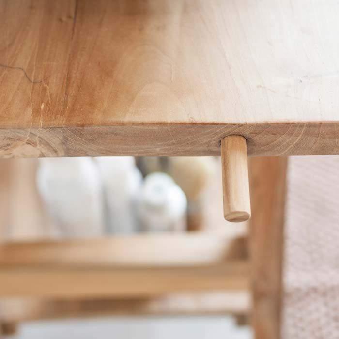 Consolle in teak massello naturale ideale per installare un lavandino - Mobili bagno teak ...