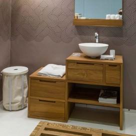 Bathroom cabinet in natural teak