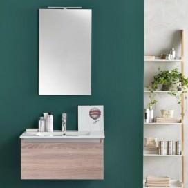 Mobile bagno con lavabo integrato color legno | Escluso rubinetto | Collezione Ibiza