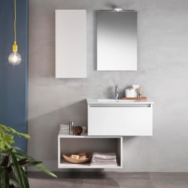 Composizione mobile da bagno bianco